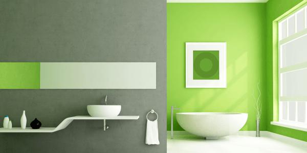 Nur Mut: Farbliche Wandgestaltung im Bad Atmosphäre schaffen, Akzente setzen