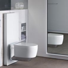 """<span class=""""entry-title-primary"""">Das Dusch-WC: sanfte Hygiene mit frischem Wasser</span> <span class=""""entry-subtitle"""">Das Geberit AquaClean Mera</span>"""