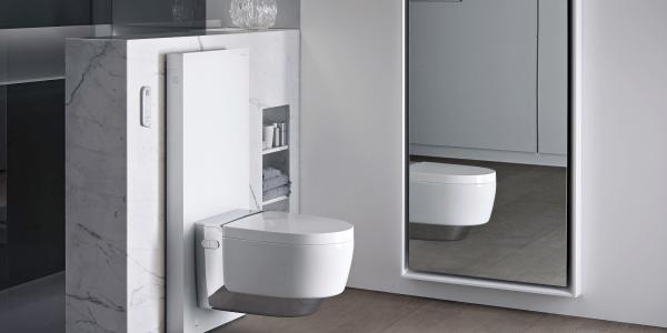 Das Dusch-WC: sanfte Hygiene mit frischem Wasser Das Geberit AquaClean Mera